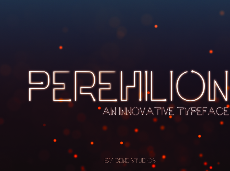 PEREHILION - An Innovative Typeface stars universe space font space futuristic font futuristic font design typeface font easy to use graphic design design