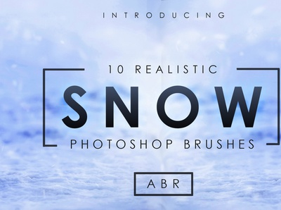 10 Realistic Photoshop Snow Brushes