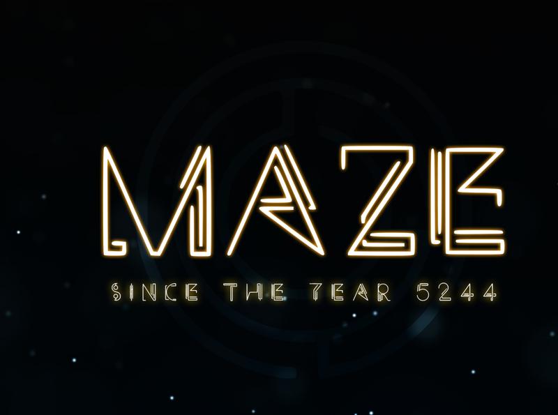 MAZE - A Technical Typeface typeface designer typeface design typefaces font awesome font family font design fonts creative maze science fiction sci-fi futuristic typeface futuristic font futuristic future typeface font easy to use graphic design design