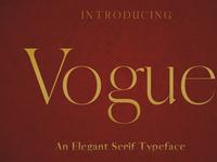 VOGUE - An Elegant Typeface