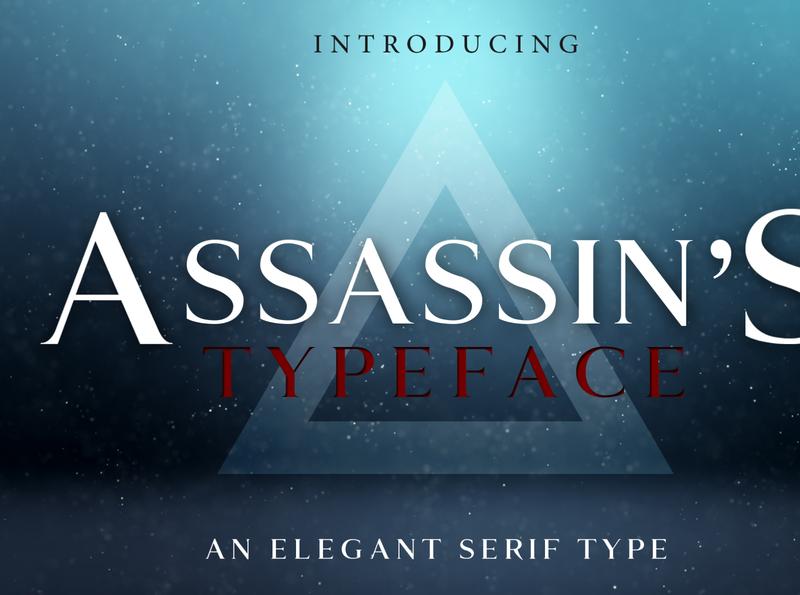 ASSASSIN'S - An Elegant Typeface assets assassins ezio altair serif creed assassins creed assassin identity elegant business brand font design typeface font easy to use graphic design design