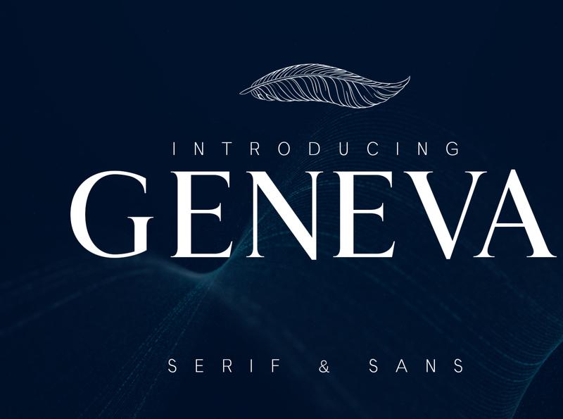 GENEVA - A family of 8 fonts serif font typedesign type design type elegant font sans serif typeface designer typeface design typefaces branding identity elegant business brand font design typeface font graphic design design
