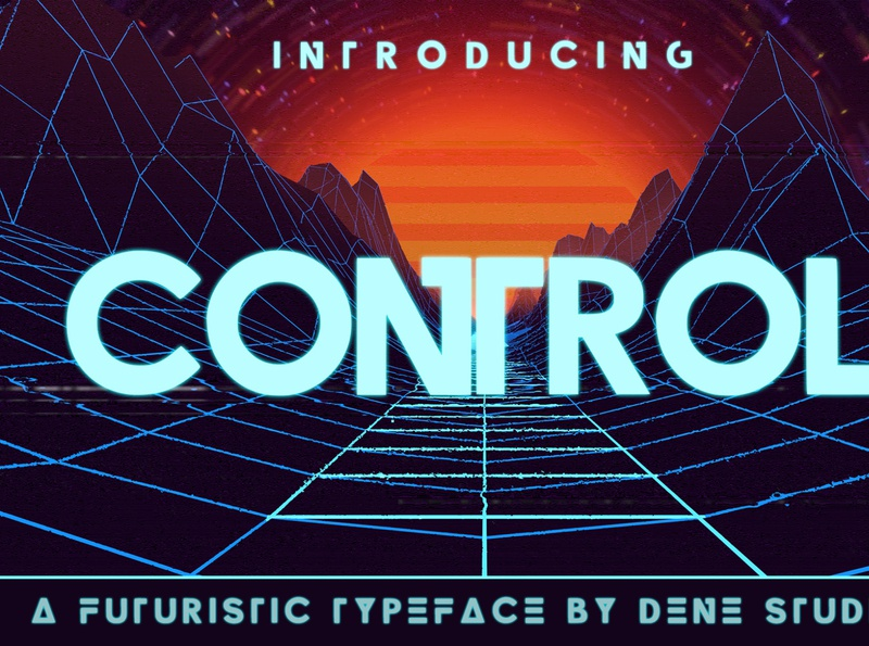 CONTROL - A Futuristic Typeface typeface design typefaces typeace space font computer cyberspace space future futuristic font futuristic identity elegant business brand font design typeface font easy to use graphic design design