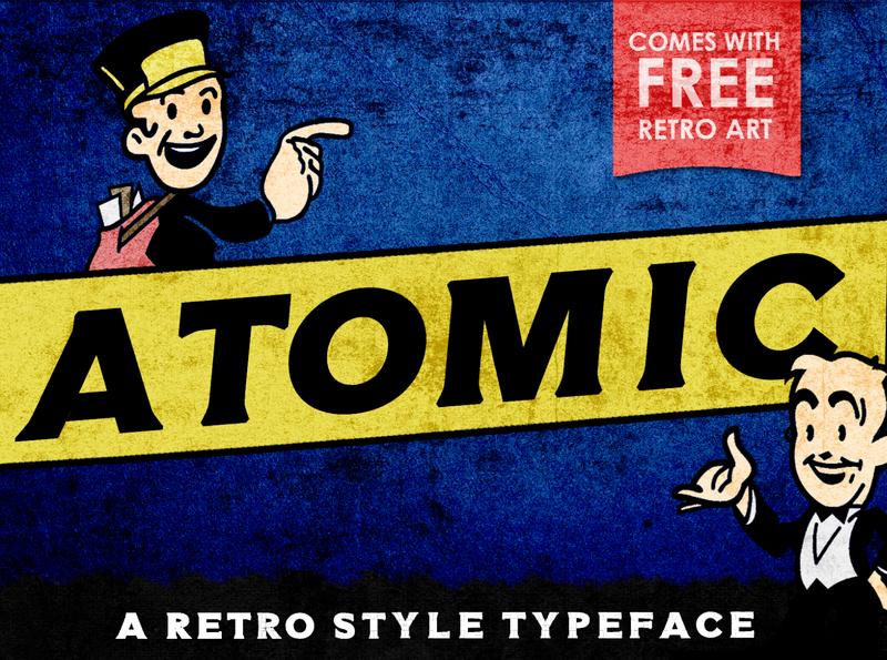 ATOMIC Typeface retro font retro bold bold font fonts creative design fallout 4 fallout 76 fallout creative font awesome typefaces typeface design business brand font design typeface font graphic design design