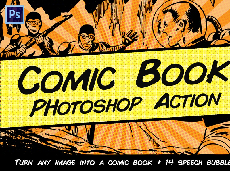 Comic Book Photoshop Action instant quick fast workflow artist art actions halftone effect halftone action haftone photoshop art comic book comic preset action photoshop action photoshop easy to use graphic design design