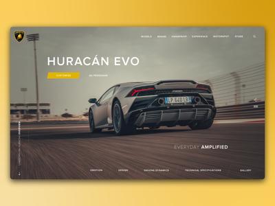 Lamborghini Huracan - Landing Page