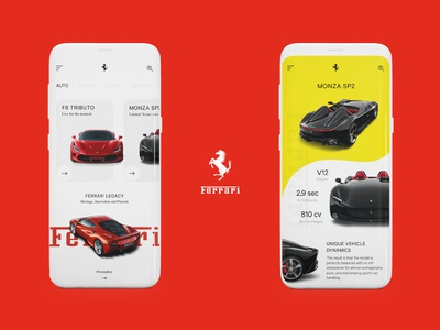 Ferrari - Mobile App Concept (Red)