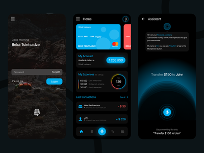 Concept design of Finance app