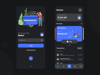 Finance app Design (Dark Mode)