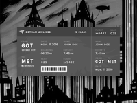 Daily UI 024 ::  Boarding Pass