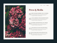 Daily UI :: 051 Press Page