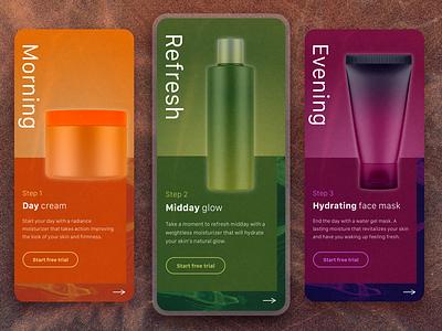 Skincare routine design mobile app design app ux ui