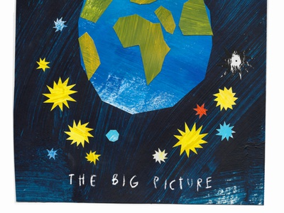 The Big Picture cutpaper texture design collage illustration color