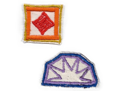 Patches logo design sunset embroidery sew stich patches shapes color