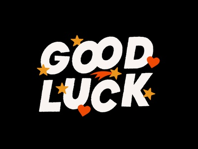 Good Luck lucky good luck new year hand drawn procreate ipad goodluck texture type illustration lettering design