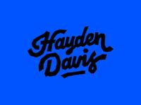 Hayden Davis Logo Concept 2