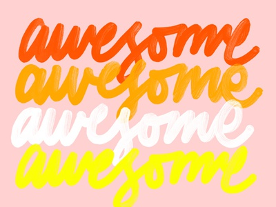 Awesome design lettering typogaphy color script