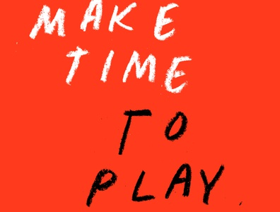Make Time texture type lettering design color typography