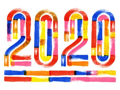 2020 texture collage lettering design color typography