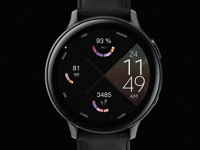 Dream 36 - Watch Face electronics screen digital tech smart galaxtwatch illustration wearable tech wearable watchface watch technology smartwatch samsung graphic design gears3 galaxy watch design classic active