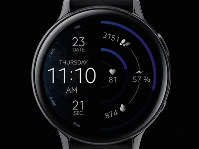 Dream 38 - Watch Face electronics screen digital tech smart galaxtwatch illustration wearable tech wearable watchface watch technology smartwatch samsung graphic design gears3 galaxy watch design classic active