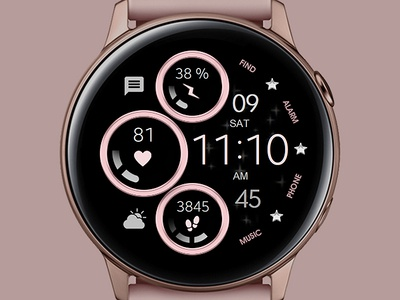 Simple Rose Gold - Watch Face electronics rose gold digital tech smart galaxywatch illustration rosegold wearable watchface watch technology smartwatch samsung graphic design sport galaxy watch design classic active