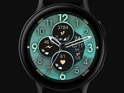 Modern Watch Face galaxywatch3 electronics digital tech smart illustration wearable watchface watch technology smartwatch samsung graphic design galaxy watch aesthetic design modern ui