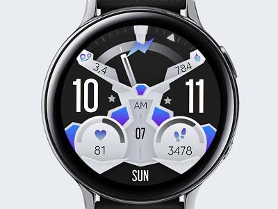 Grey Watch Face galaxywatch3 electronics tech smart illustration wearable watchface watch technology smartwatch samsung graphic design galaxy watch design modern ui grey
