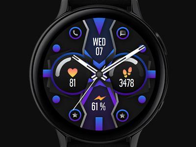 Colorful Watch Face galaxywatch3 electronics tech smart illustration wearable watchface watch technology smartwatch samsung graphic design galaxy watch design modern ui colorful