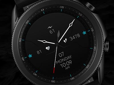 Minimal Black Samsung Watch Face galaxywatch3