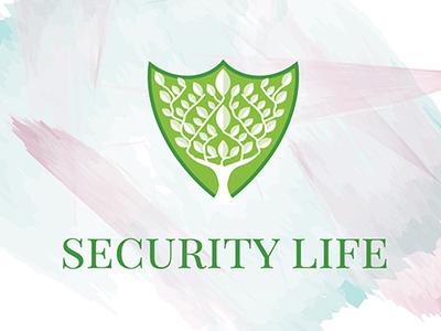 Security Life Logo shield logo tree logo security logo security life logo
