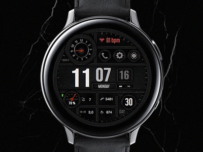 Digital - Watch Face electronics screen digital tech smart galaxtwatch illustration wearable tech wearable watchface watch technology smartwatch samsung graphic design gears3 galaxy watch design classic active