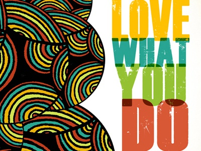 Love What You Do Abstract Illustration