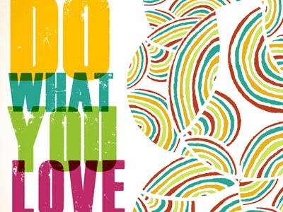 Do What You Love Abstract Illustration