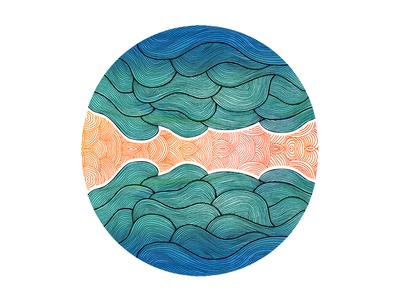 Ocean Flow Illustration
