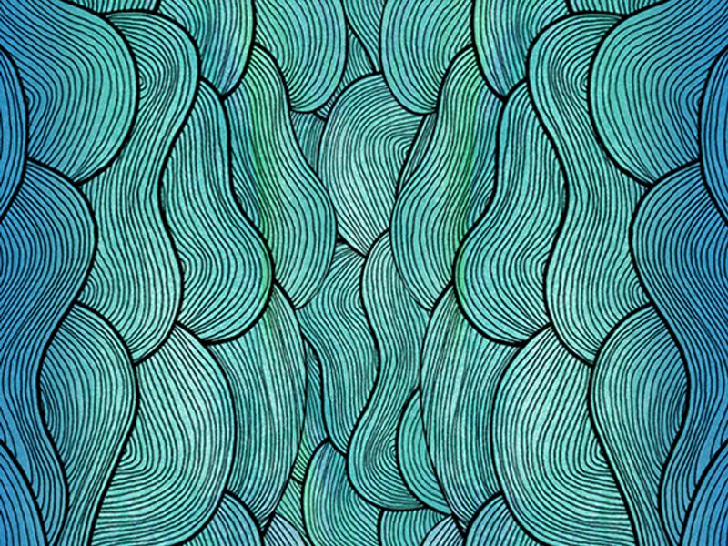 Ocean Flow Pattern sea waves pattern ocean illustration rapidograph movement flow line work linear art linear illustration