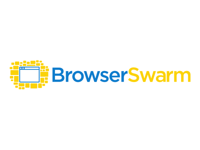 BrowserSwarm logo concept device cloud device cloud browserswarm logo icon browser