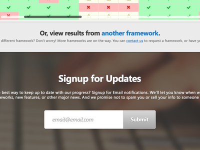 BrowserSwarm UI browserswarm ui email signup input button