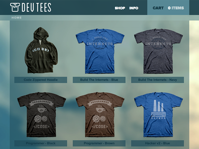 Dev Tees shop beta
