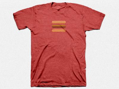 Hamburger menu icon t shirt mock