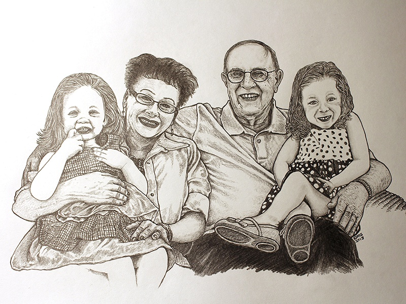 Mom Dad Drawing By Joel Glovier On Dribbble