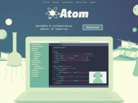 early Atom.io landing page concept