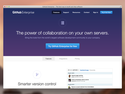 GitHub Enterprise Features github features website enterprise