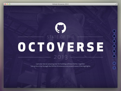 Octoverse 2013 analytics data infographic landing page