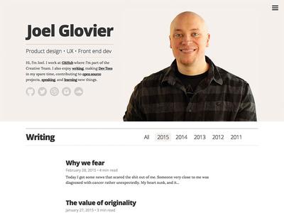 blog redesign web design jekyll liquid layout typography html css jquery