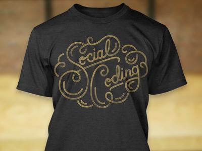 Social Coding tee t-shirt illustration typography