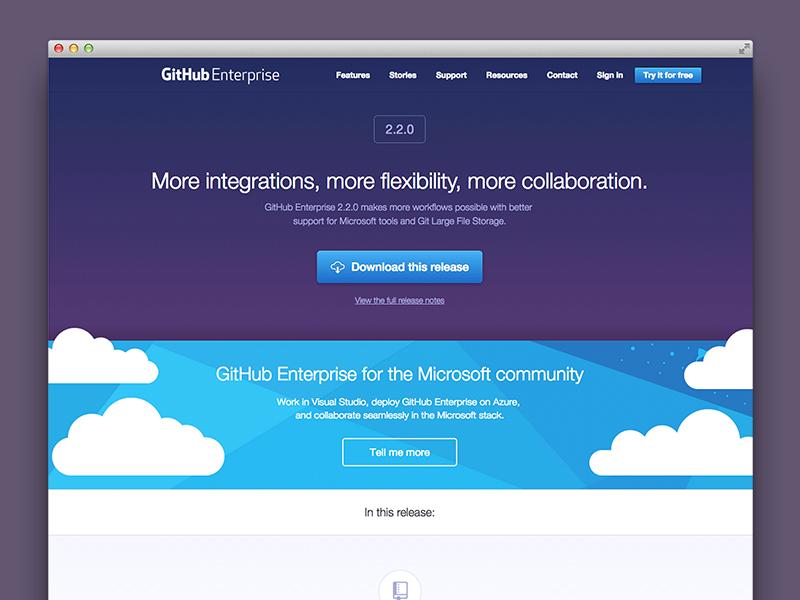 GitHub Enterprise 2 2 release page by Joel Glovier