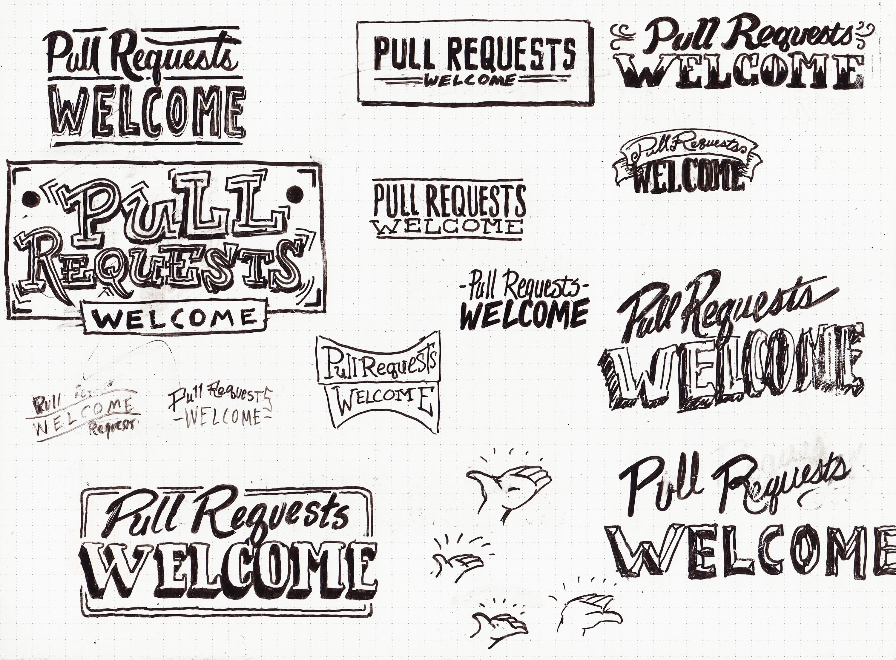 Pr welcome sketches