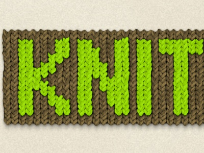 Knit, Pray, Love knit effect texture tile brown green cure.org