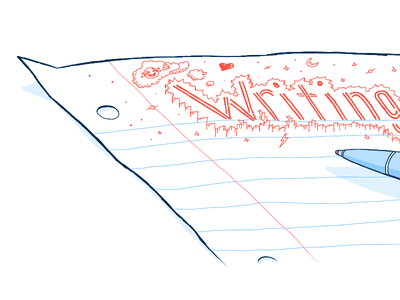 Illustration for my blog header illustration drawing